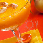 Food Styling Mango Peach Pudding by FoodArtConcept